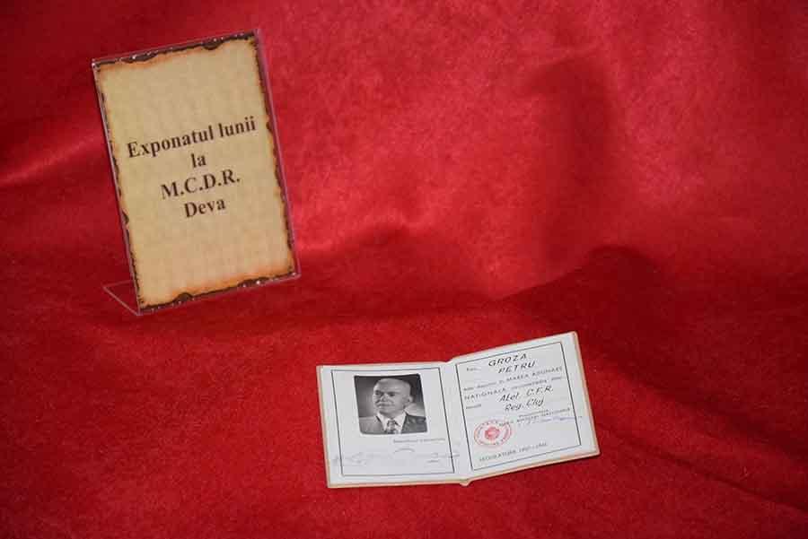 Exponatul lunii la MCDR Deva – carnetul de deputat al lui Petru Groza