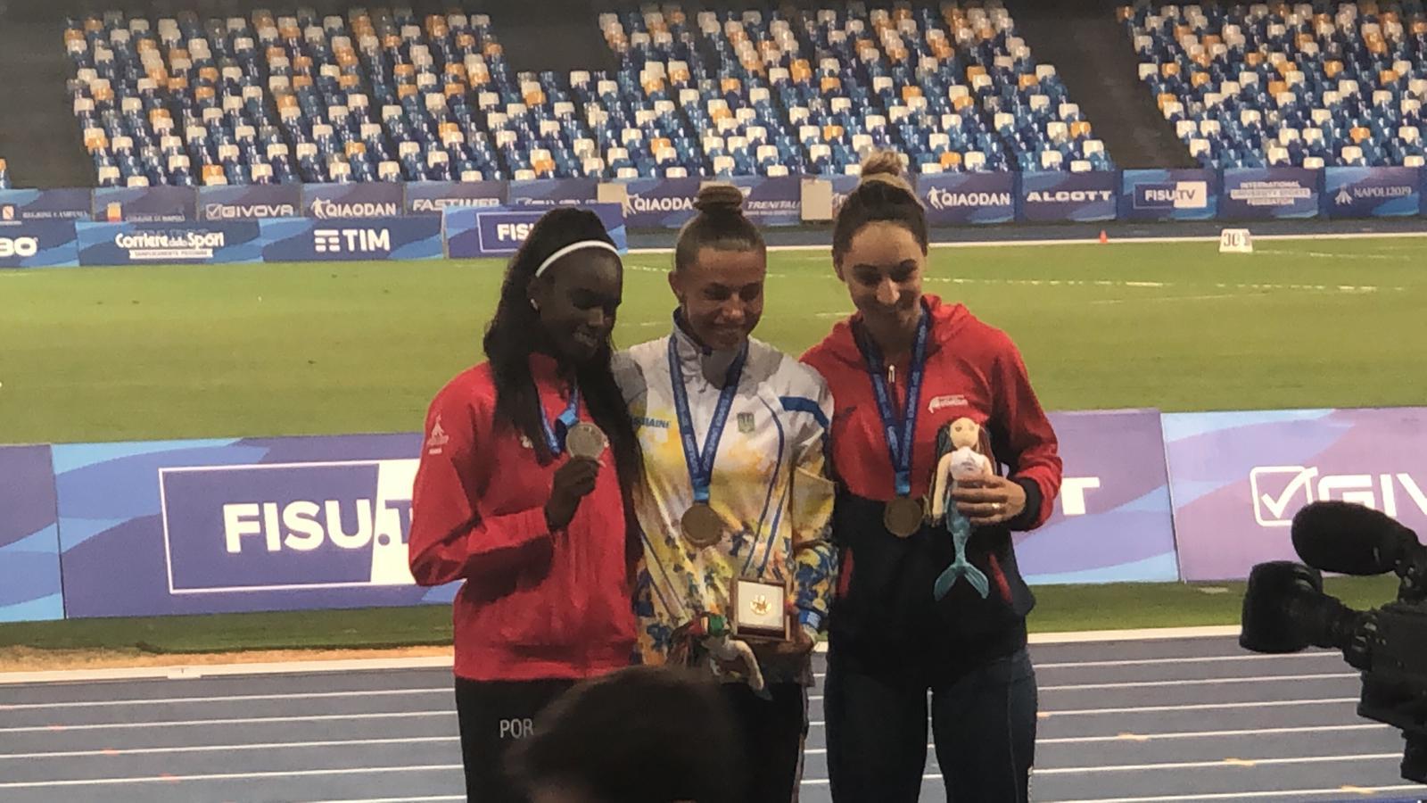 Deveanca Florentina Marincu -Iușco a adus prima medalie tricoloră pentru atletism, la Jocurile Mondiale Universitare de la Napoli