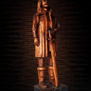 (FOTO) Expoziţie de sculptură în lemn, în Cetatea Deva