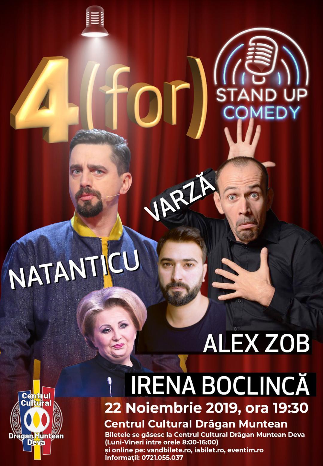 Natanticu, Varză, Alex Zob și Irena Boclincă, într-un show de comedie, la Deva