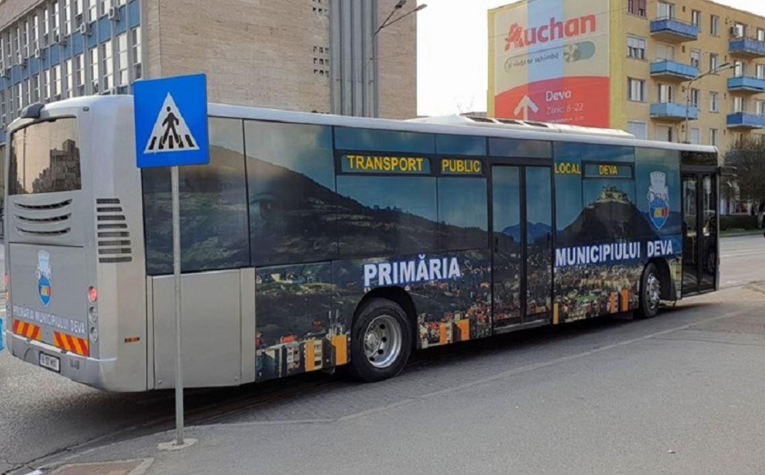Program special la transportul public local din Deva, în 24 ianuarie