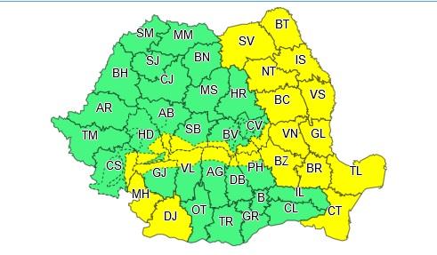 Sudul județului Hunedoara, sub cod galben de vânt puternic