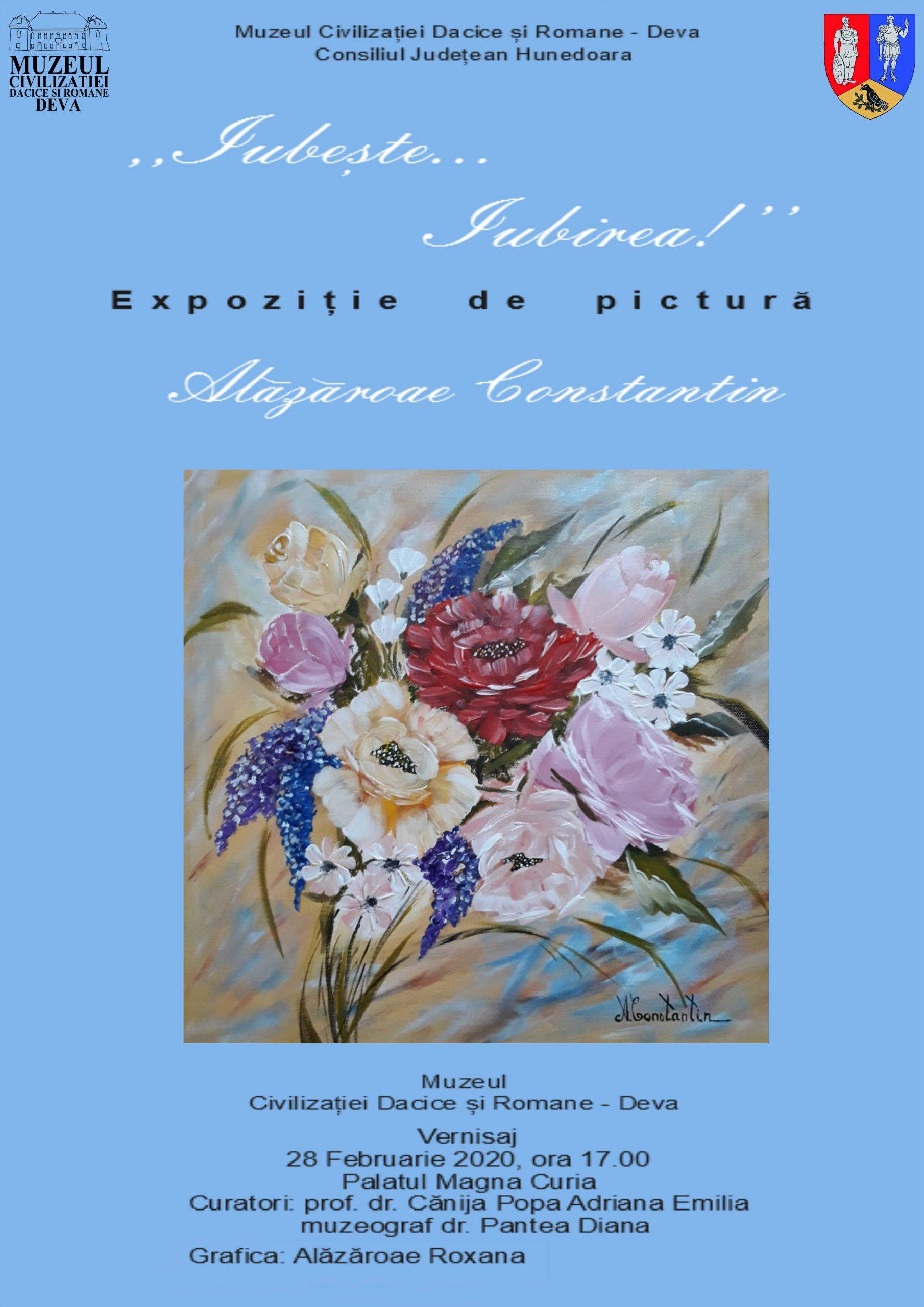 """Expoziție de pictură """"Iubeşte… Iubirea!"""", la MCDR Deva"""