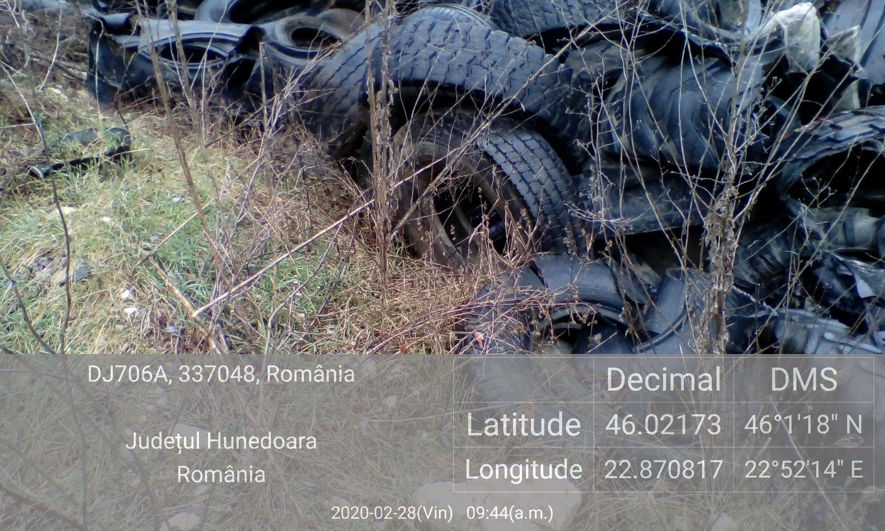 Garda de Mediu a amendat, cu 50.000 de lei, un depozit de anvelope din Băița