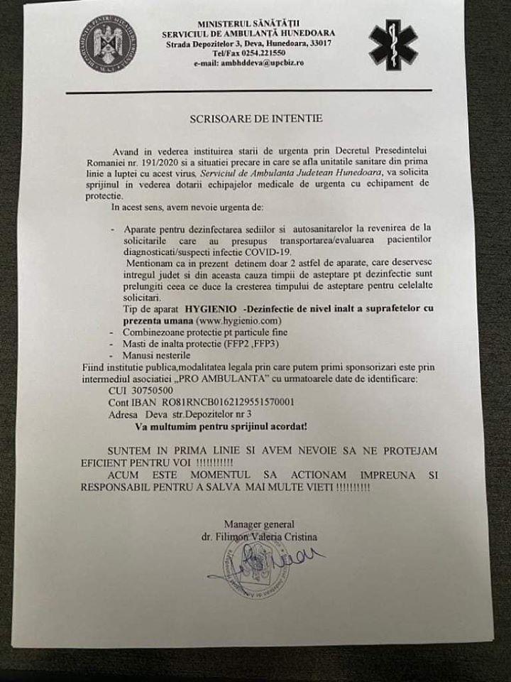 Apel din partea salvatorilor. Serviciul de Ambulanţă al Judeţului Hunedoara are urgent nevoie de ajutor