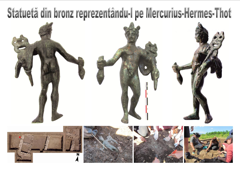 Piesa săptămânii, la Muzeul Civilizației Dacice și Romane Deva: Statuetă din bronz reprezentându-l pe Mercurius-Hermes-Thot