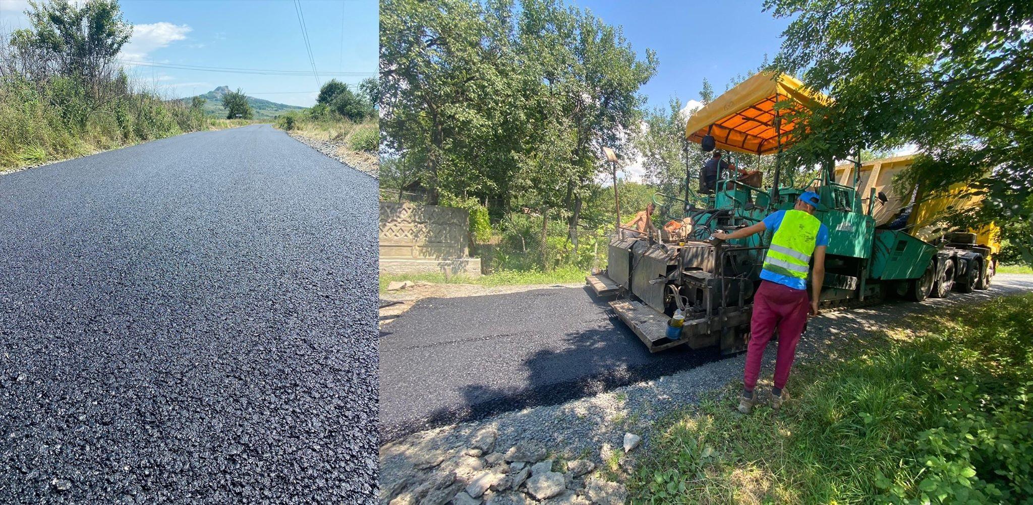 FOTO| Drumuri ca-n palmă la Ilia. Comuna se află într-un amplu proces de asfaltare