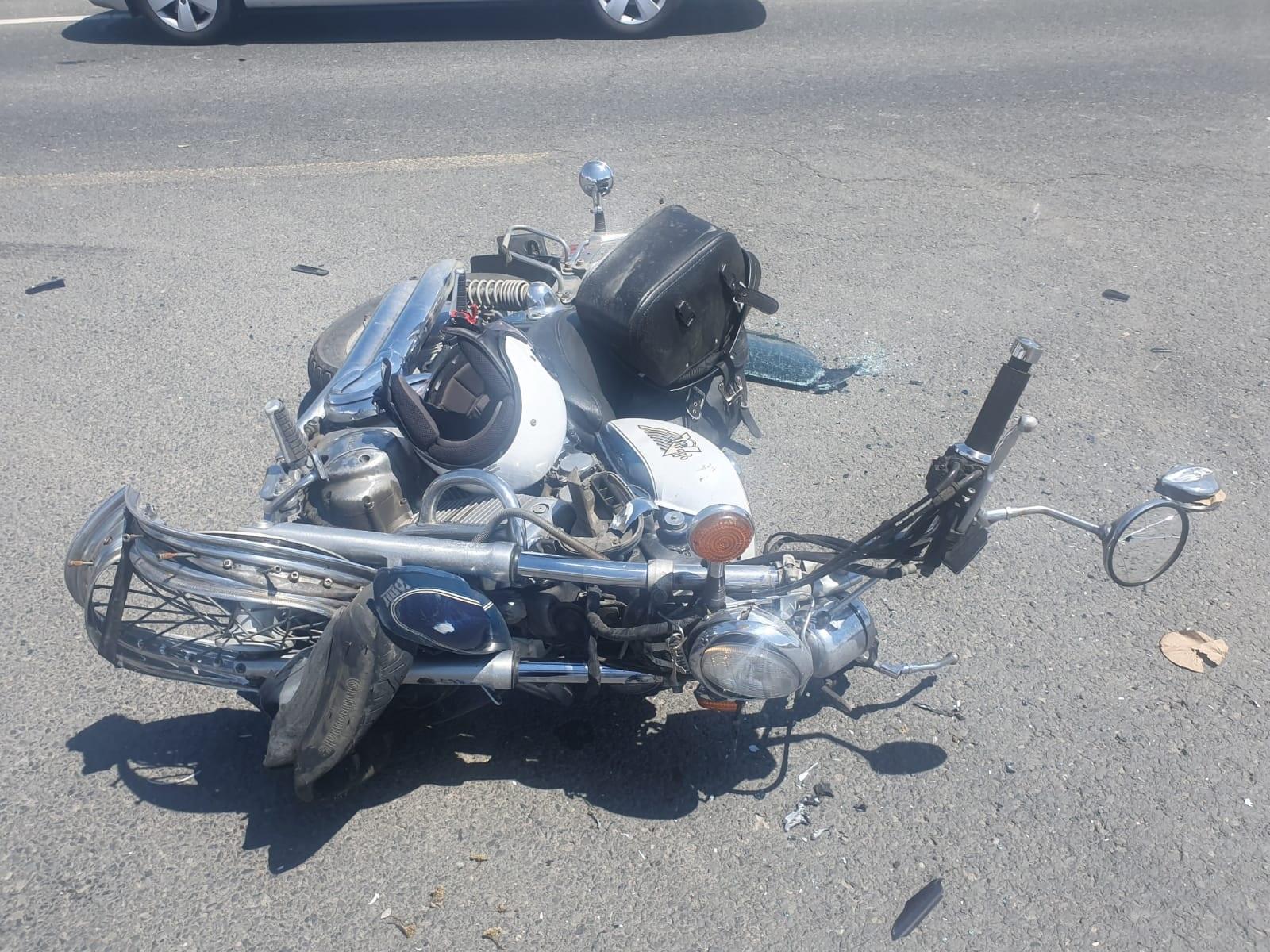 FOTO| Motociclist rănit grav în urma unui accident produs pe DN 66, la Sântămărie Orlea