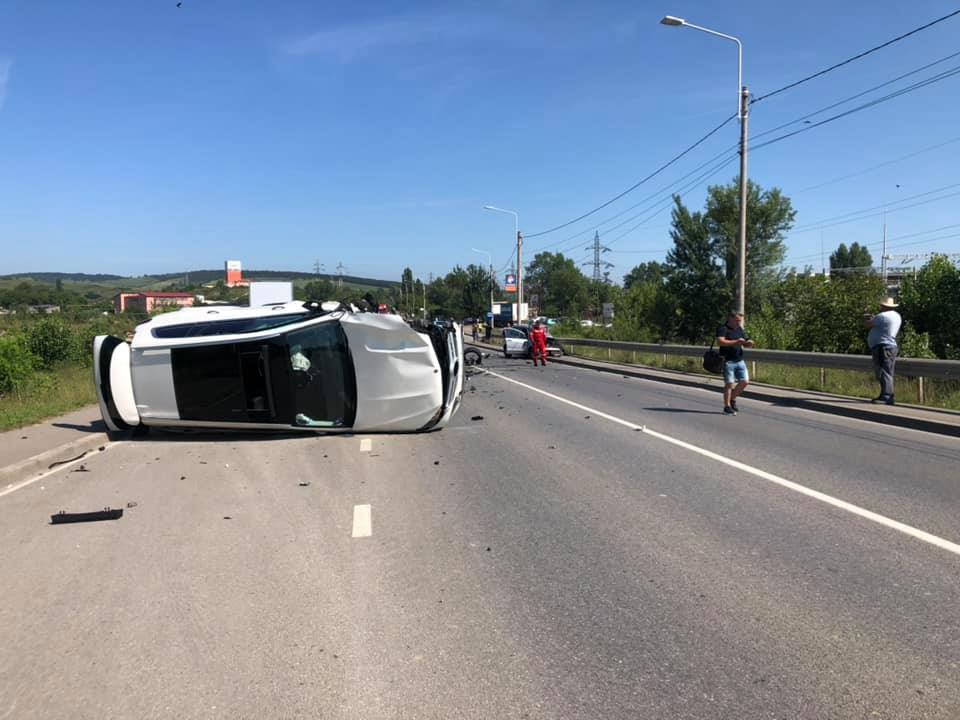 Video/Update: Accident grav la Hunedoara, pe podul de la combinat