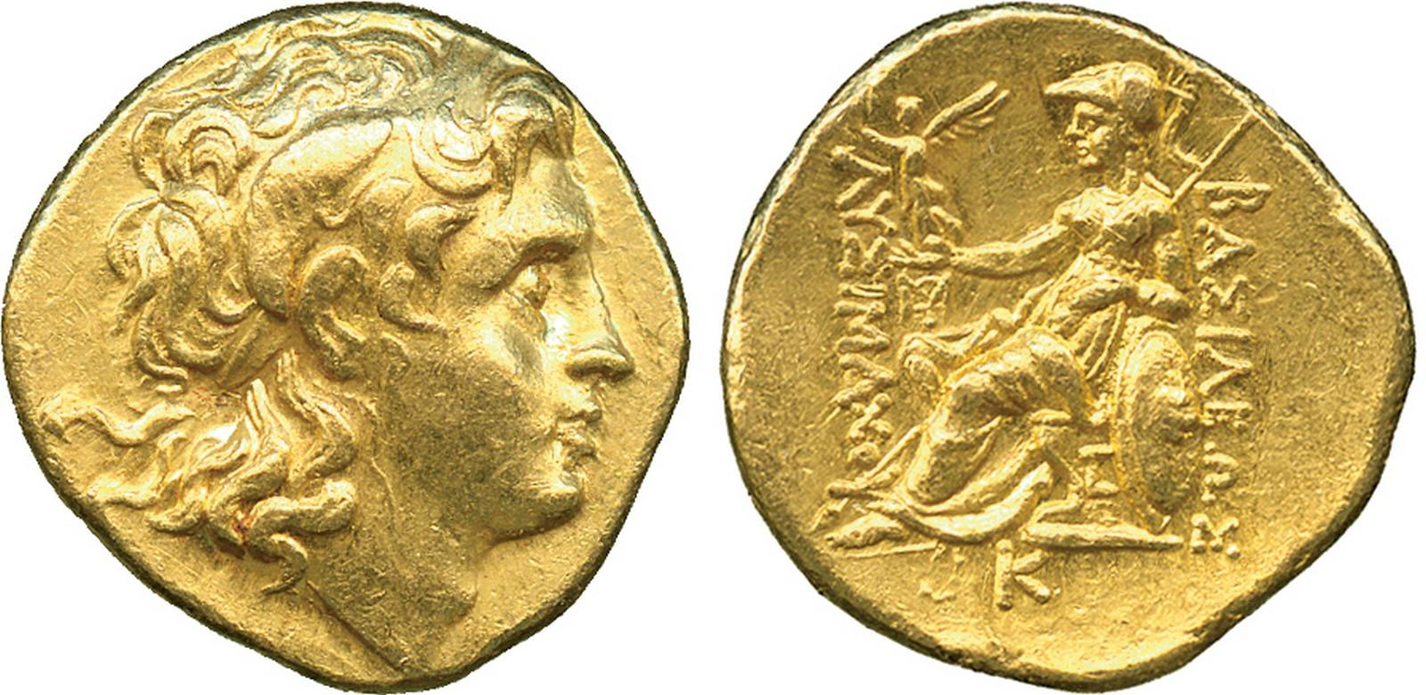 Monedă Lysimach din aur, furată din tezaurele dacice din Munții Orăștiei, recuperată din Milano