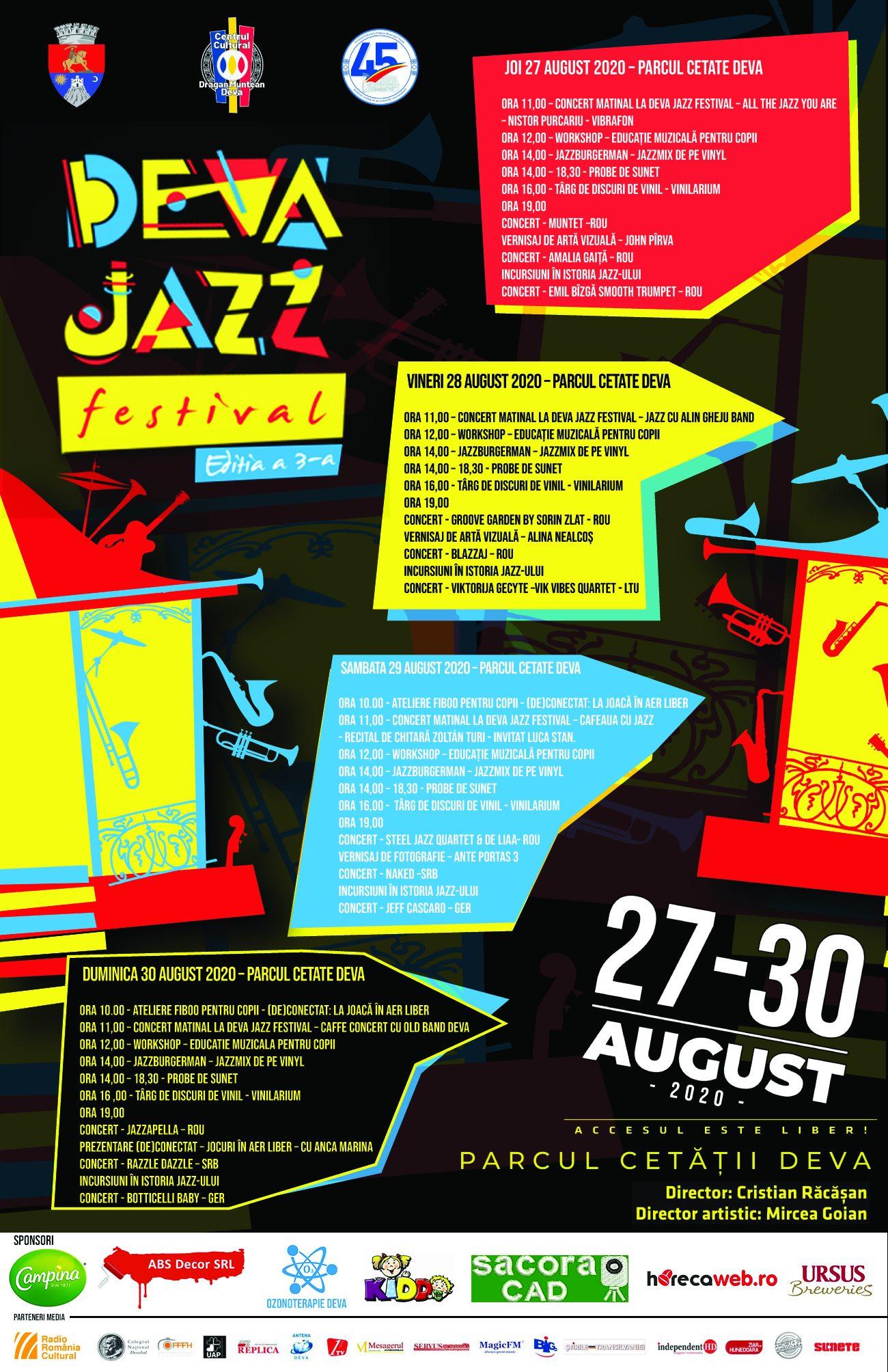 Iubitorii de jazz, așteptați la ediția a treia a Deva Jazz Festival