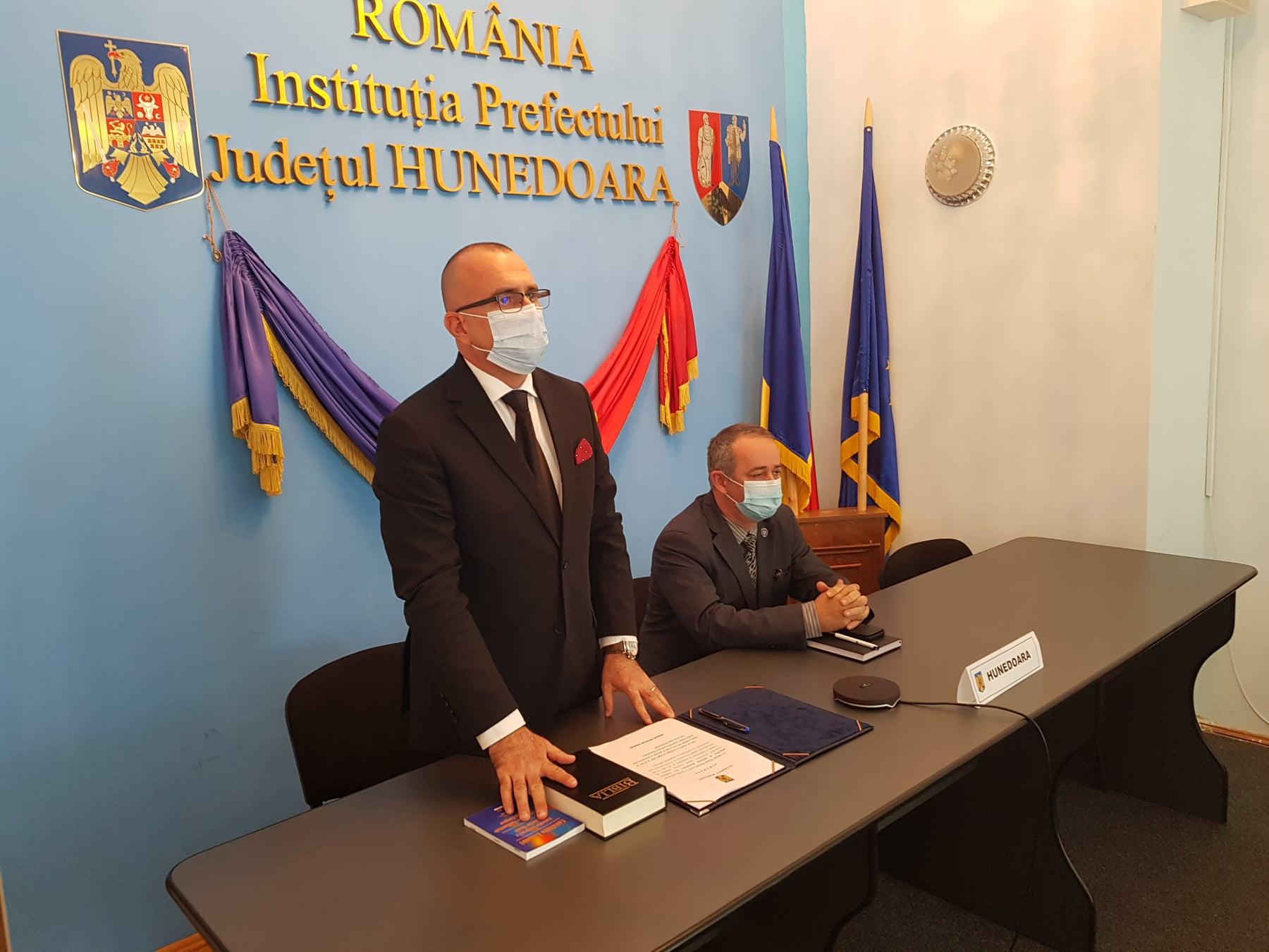Marcel Morar, noul subprefect al județului, a depus jurământul