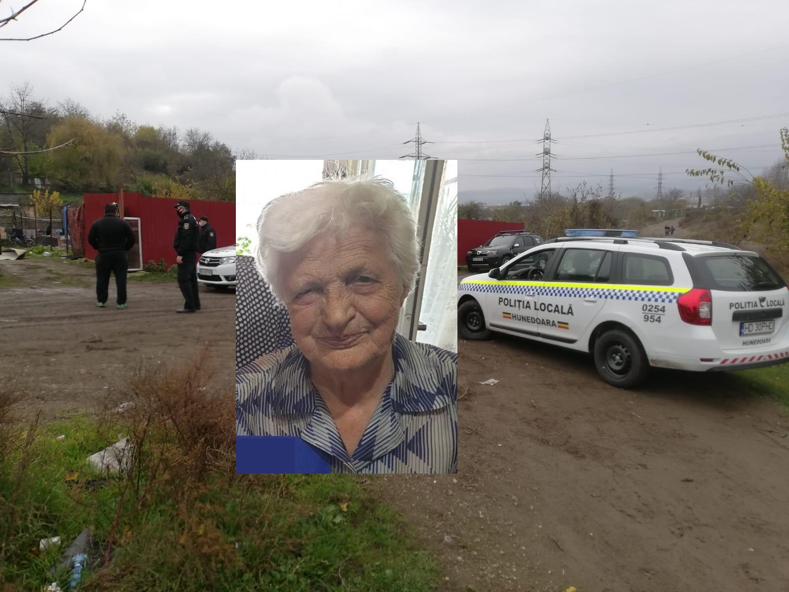 Bunicuța din Hunedoara, dată dispărută de 10 zile, a fost găsită fără suflare în zona combinatului