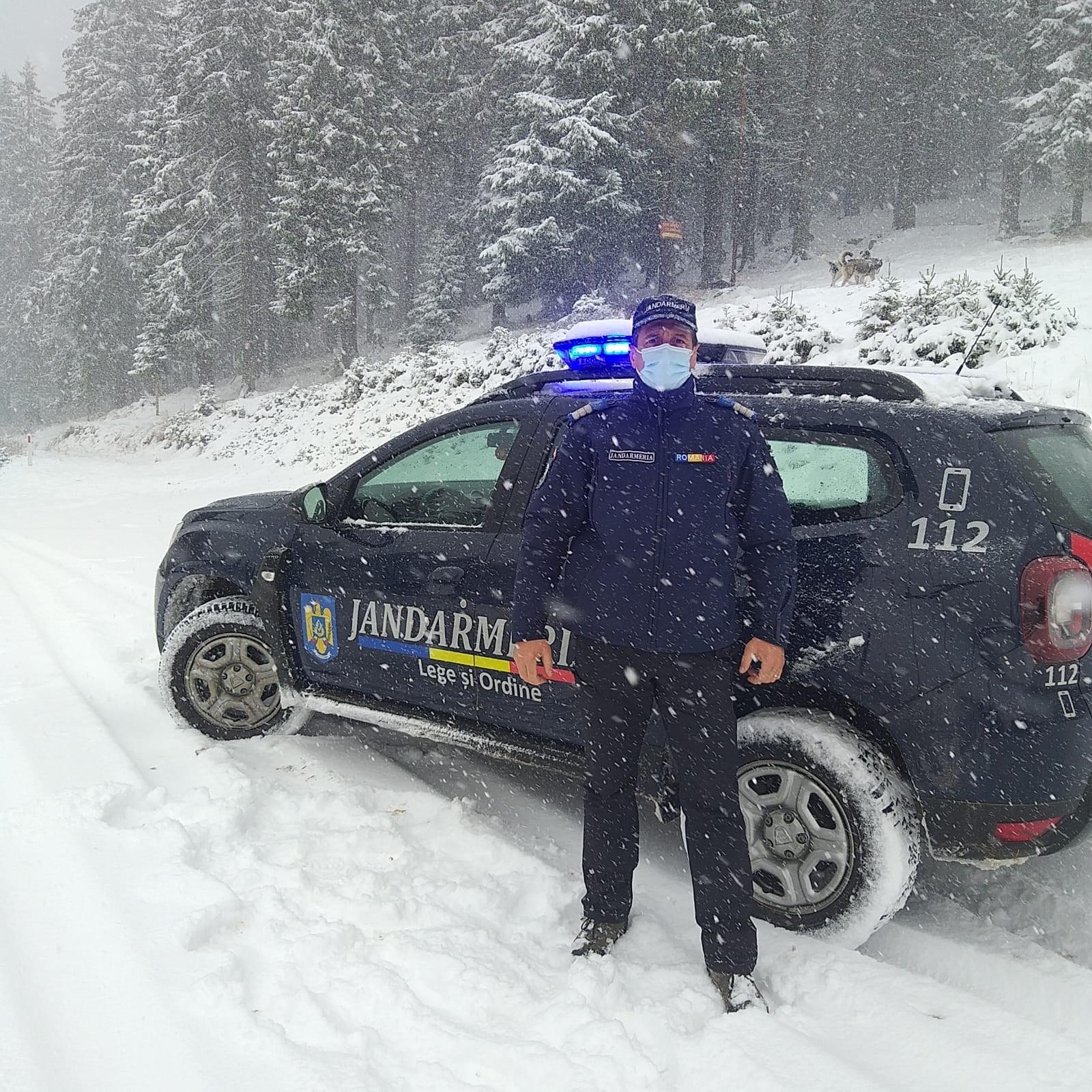Ninge în majoritatea stațiunilor montane din județ