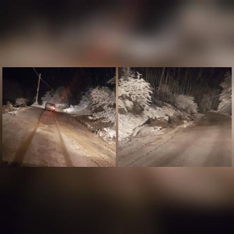 UPDATE: Circulația pe DJ 686 E – Ohaba-Sibișel – a fost reluată, după ce drumul a fost blocat de mai mulți bolovani