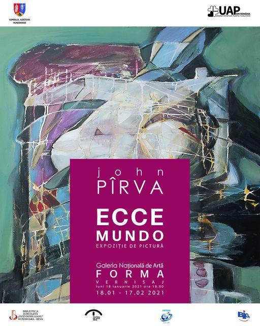 """""""Ecce Mundo"""", expoziție personală de pictură a artistului hunedorean John Pîrva, la Galeria Națională de Artă """"Forma"""" din Deva"""