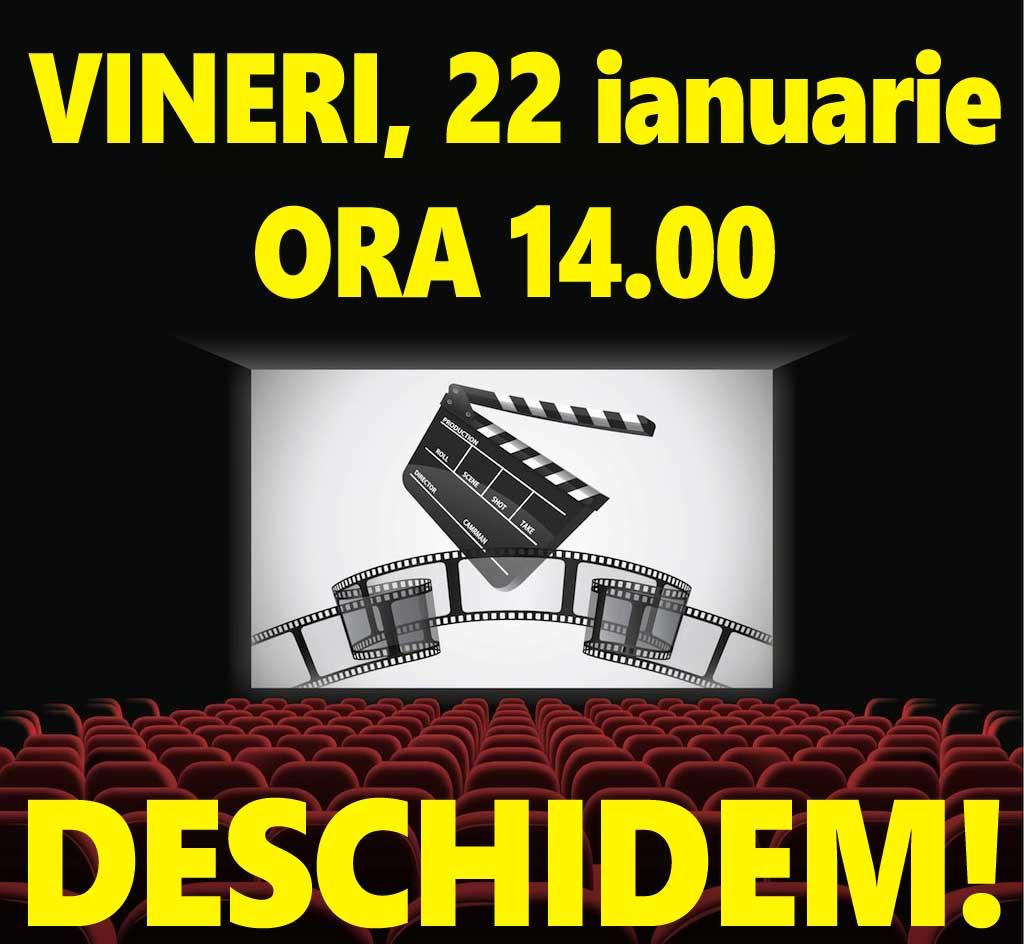 Cinematograful din Petroșani se redeschide, începând de vineri