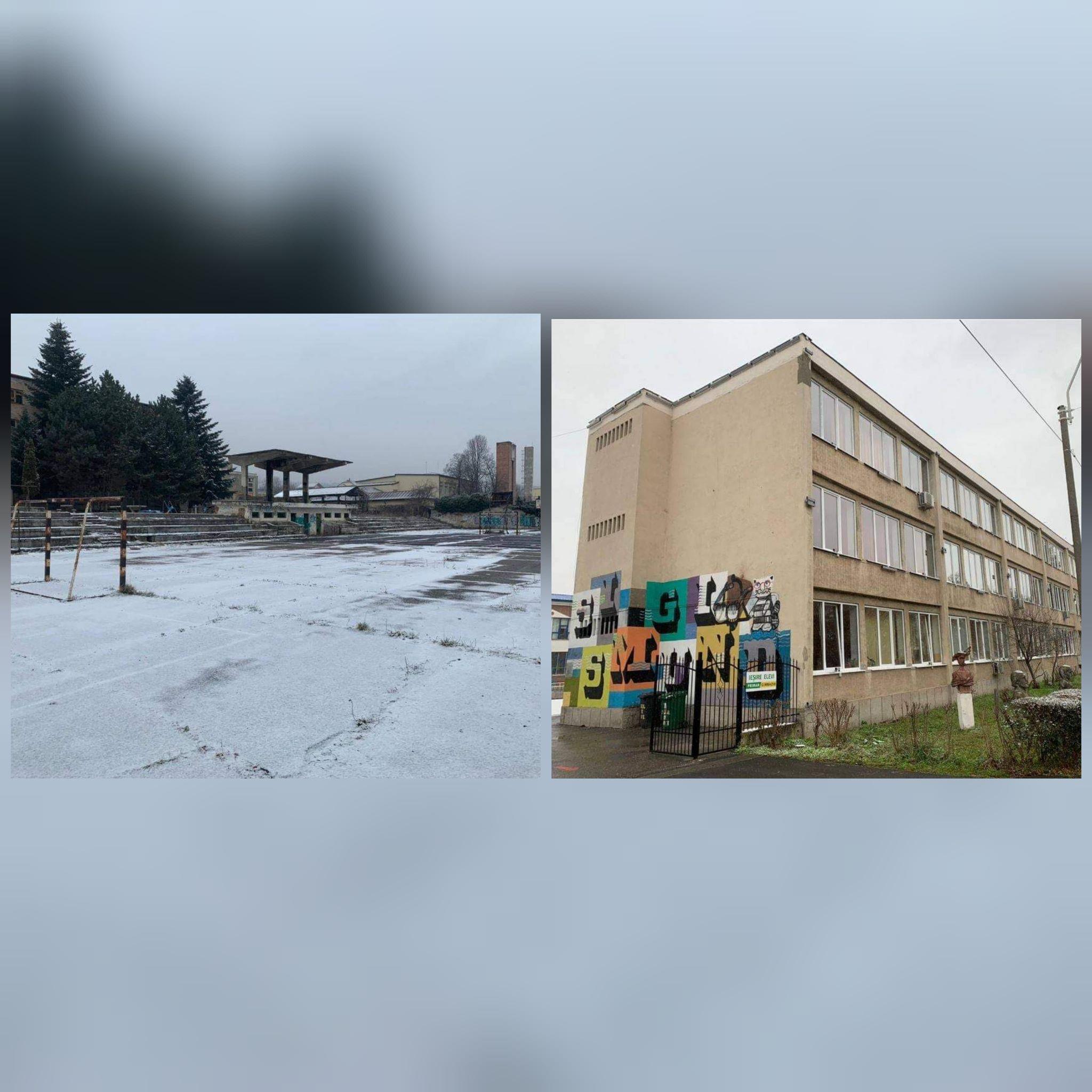 """Terenul de sport de la fostul Liceu """"Traian"""" va fi amenajat, iar rețelele electrice și de apă vor fi schimbate la Liceul de Arte din Deva"""