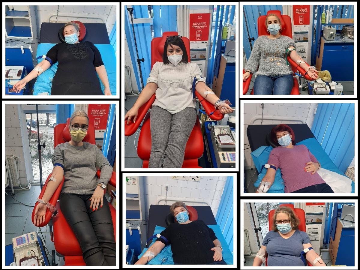 Angajații Creșei Deva au donat sânge pentru o elevă de la Liceul de Arte, internată în stare gravă la Institutul Clinic Fundeni