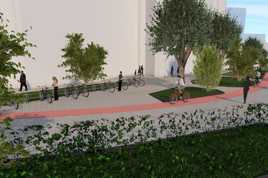 Pistă de biciclete și trotuare, amenajate pe bani europeni, la Deva