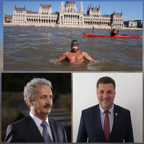 Consilierii județeni PMP Viorel Arion și Robert Muzsic îl susțin pe Avram Iancu în încercarea sa de a stabili un nou record de anduranță