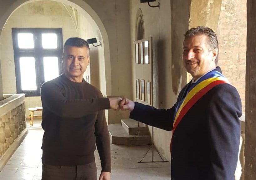FOTO| Ambasadorul Israelului în România, Excelenţa Sa David Saranga, în vizită la Castelul Corvinilor din Hunedoara