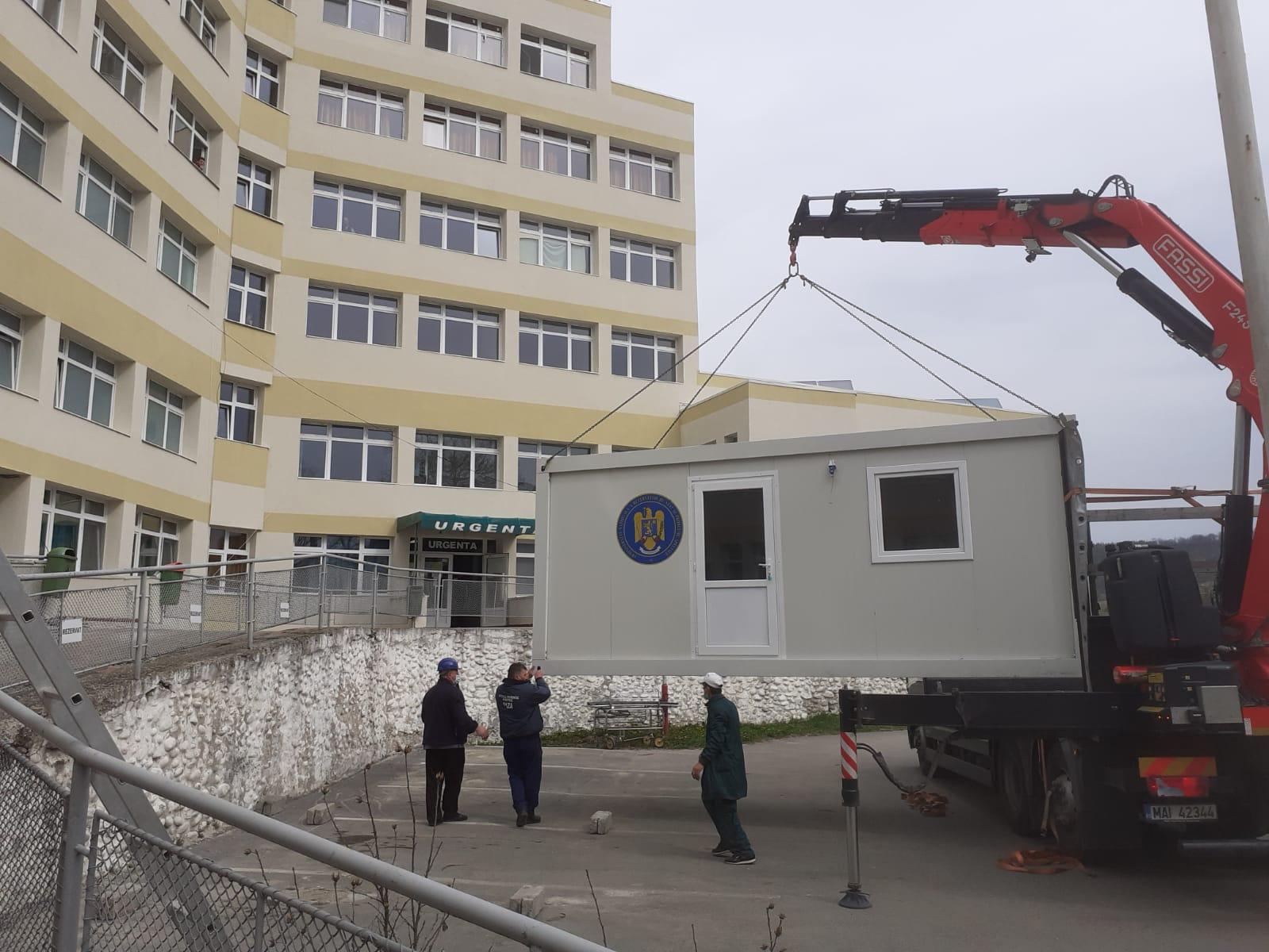Trei noi construcții modulare, pentru spitalele din Hațeg, Brad și Sanatoriul de Pneumoftiziologie din Brad