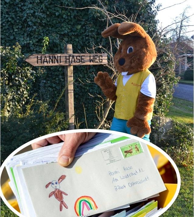 """""""Hanni Hase"""", iepurașul pascal dintr-un orășel din Germania, copleșit cu zeci de mii de scrisori primite de la copii din toată lumea"""