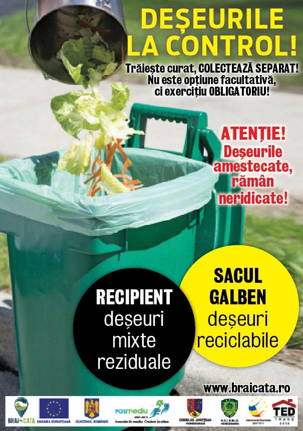 Trei localități din Hunedoara au intrat în programul pilot de monitorizare a deșeurilor