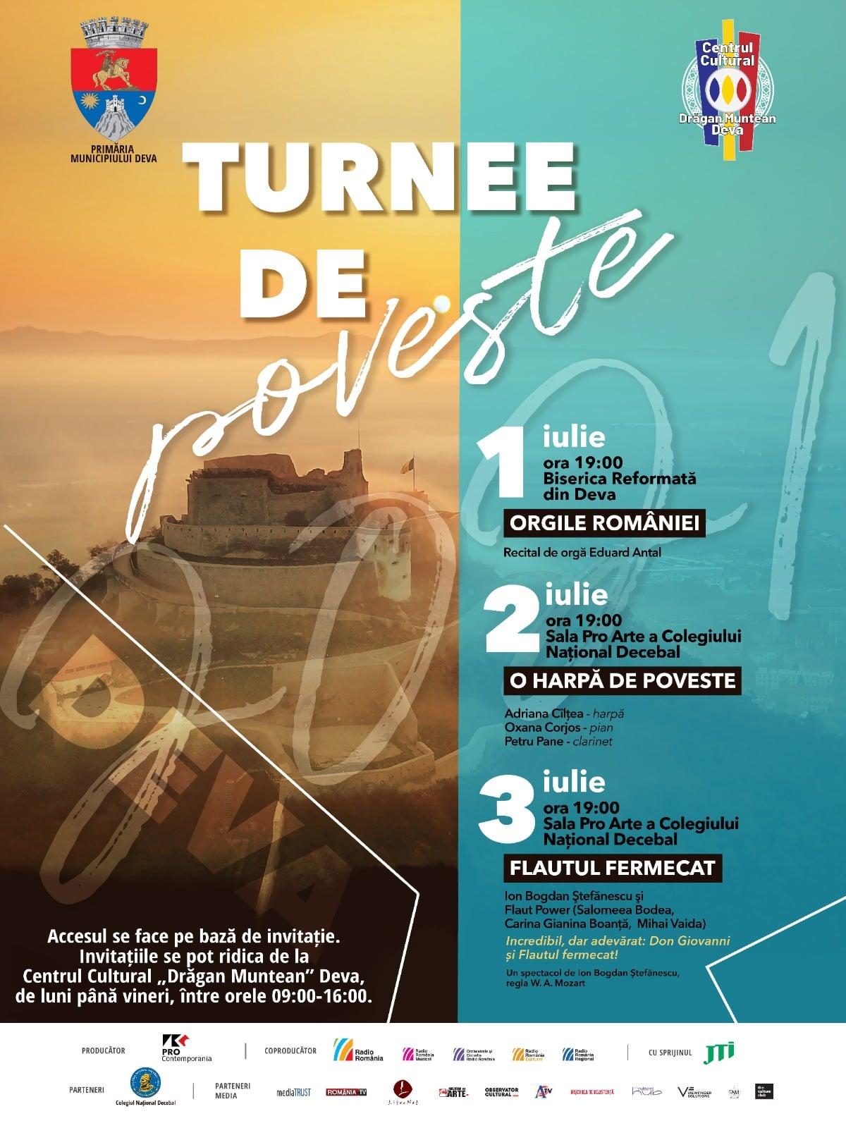 """Turnee de poveste"" la Deva. Trei concerte extraordinare, la început de iulie"