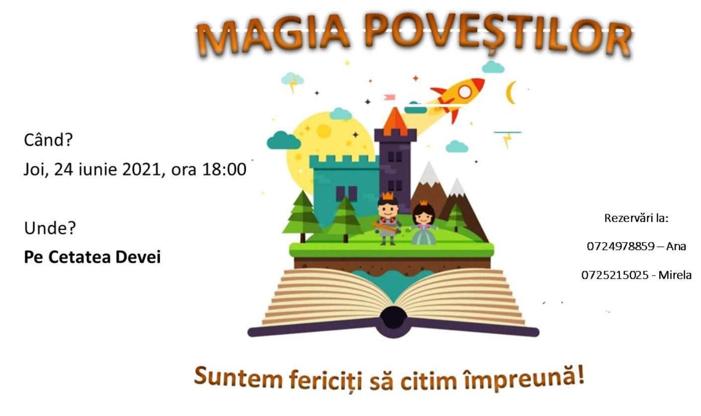 """""""Magia poveştilor"""" în Cetatea Devei. Copii şi părinţi sunt invitaţi să păşească în lumea minunată a lecturii"""