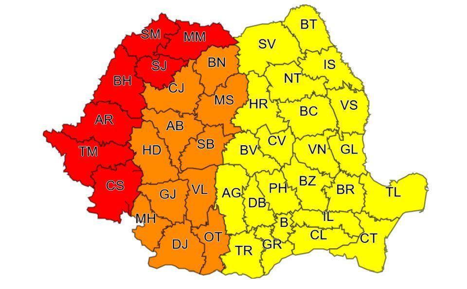 Două zile de Cod portocaliu de caniculă, în județul Hunedoara