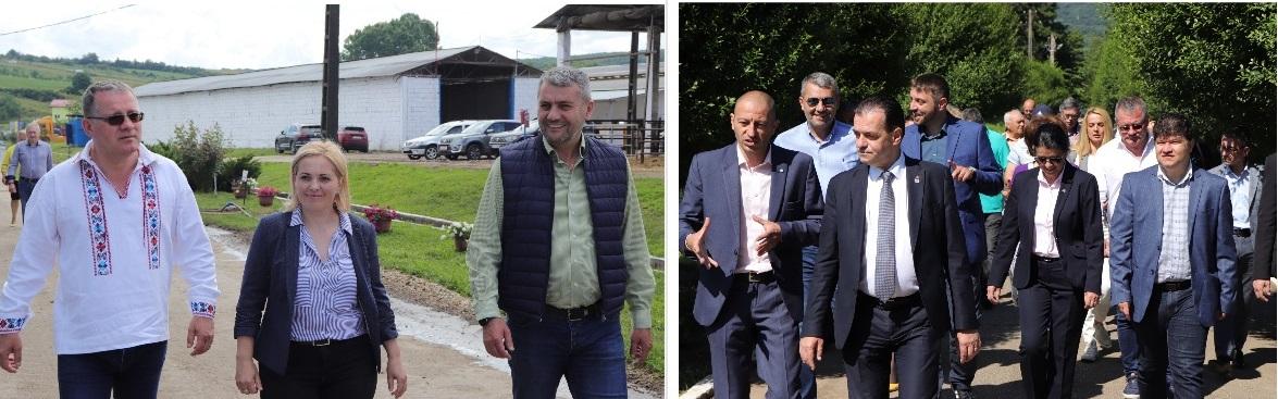 Preşedintele Camerei Deputaţilor, Ludovic Orban, şi ministrul Agriculturii, Adrian Oros, prezenţi în judeţ