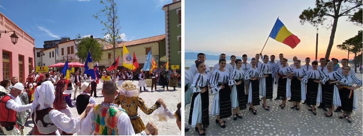 """FOTO  Au dus numele Devei şi al ţării dincolo de graniţe. Ansamblul Folcloric """"Silvana"""" – ambasador cultural al României în Albania"""