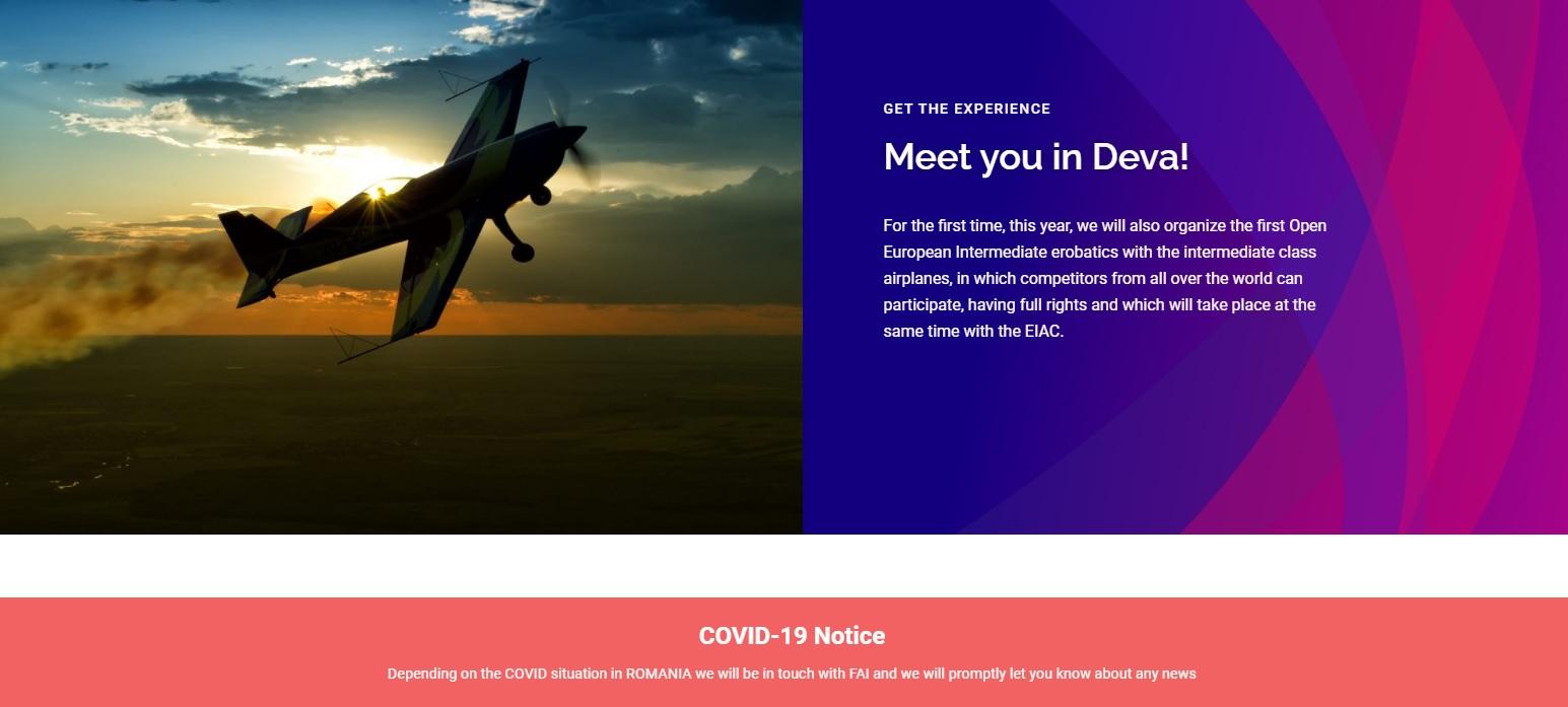 Campionatul European de Acrobație va avea loc la Aeroclubul din Deva, dacă pandemia nu schimbă planurile