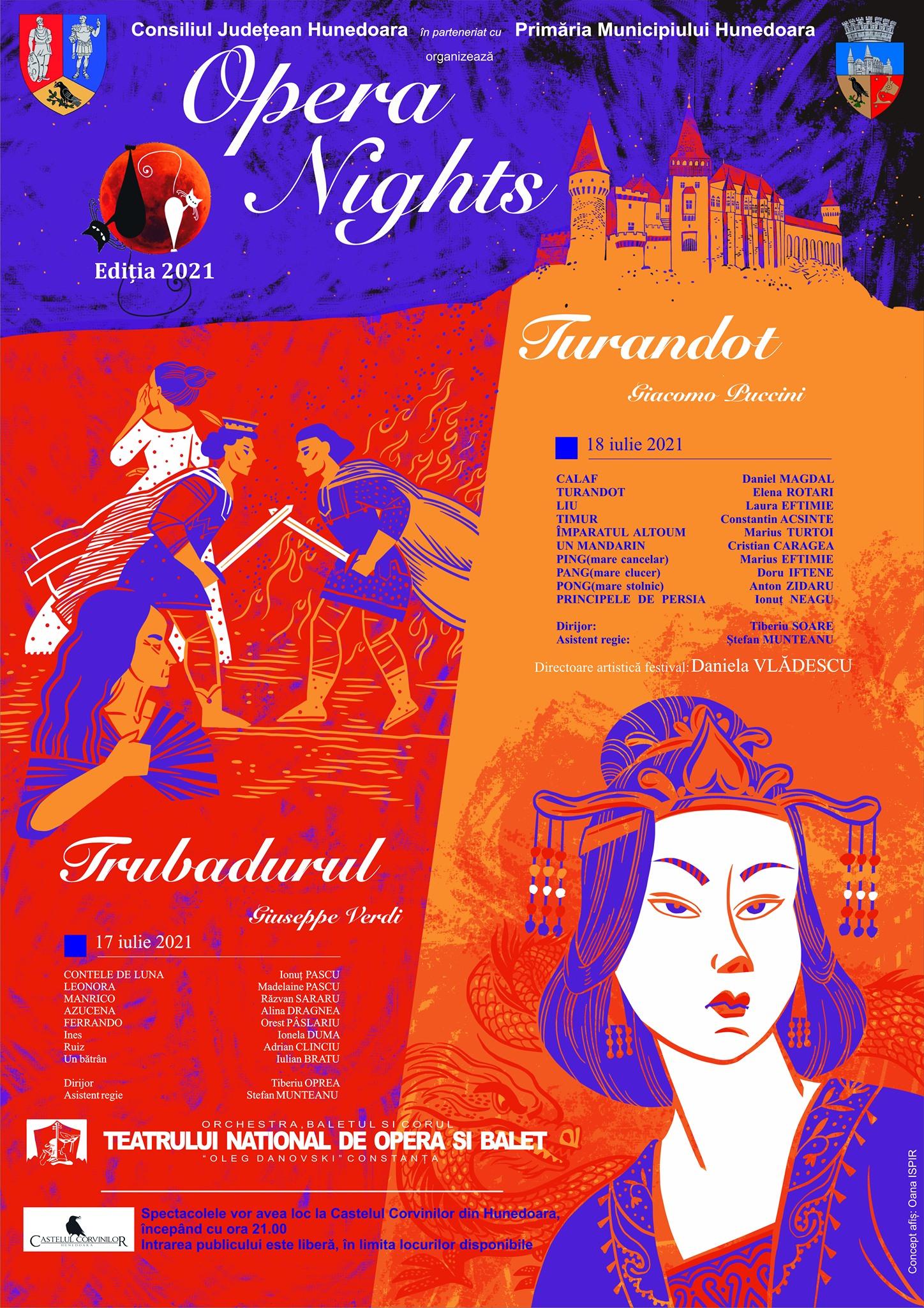 """Festivalul de operă """"Opera Nights"""". Două seri magice, la Castelul Corvinilor din Hunedoara"""