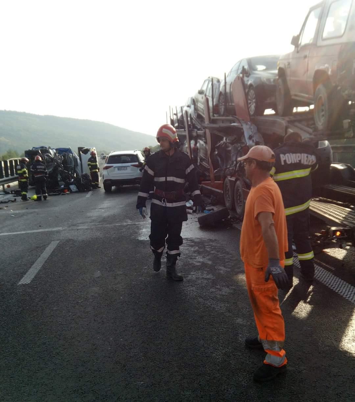 Accident rutier pe autostradă, în apropiere de Mintia. Traficul este îngreunat