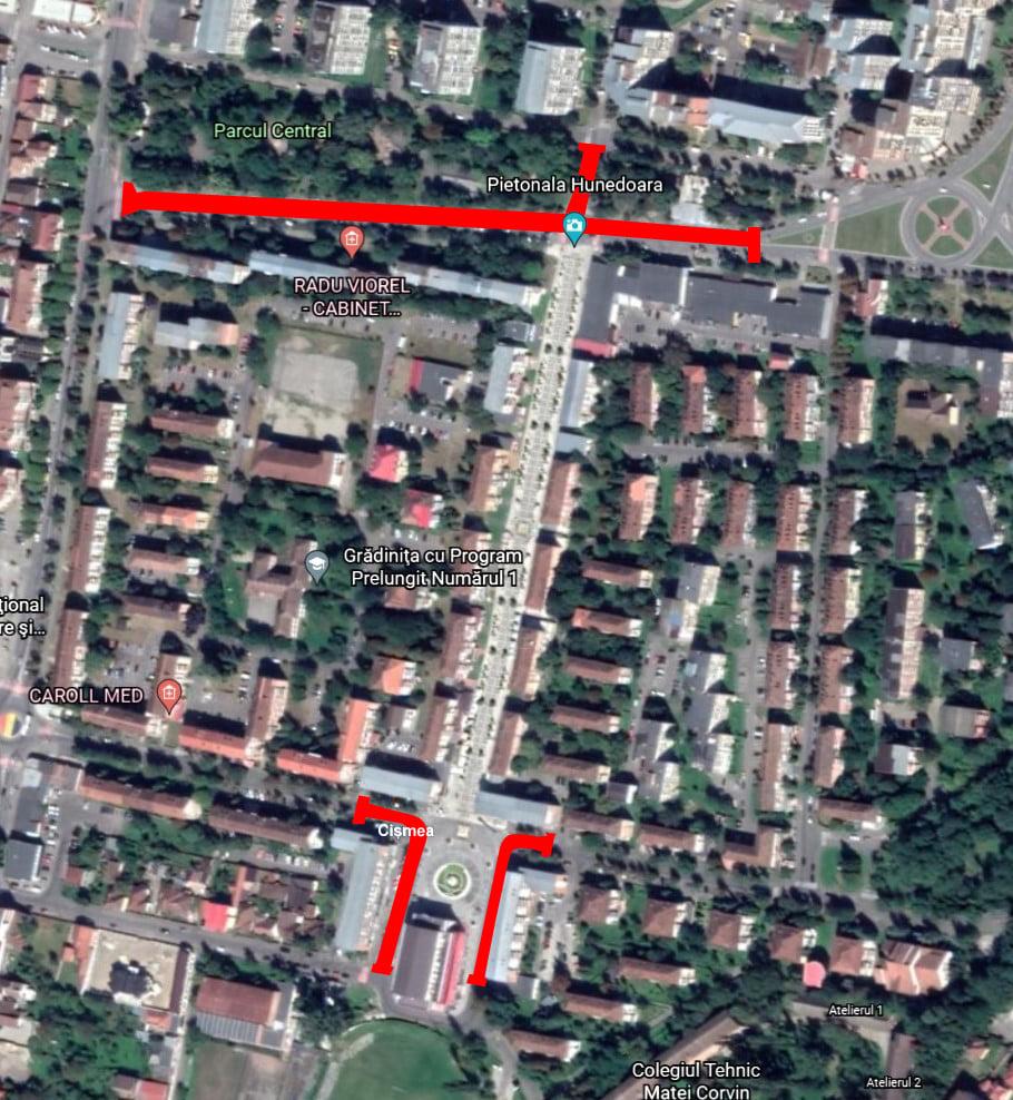 Restricții de circulație rutieră la Hunedoara, de zilele orașului