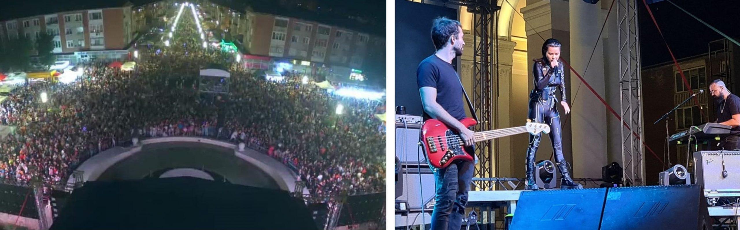"""FOTO -""""Zilele Municipiului Hunedoara"""": Mii de oameni, prezenți la spectacolele susținute de artiștii invitați de administrația locală"""
