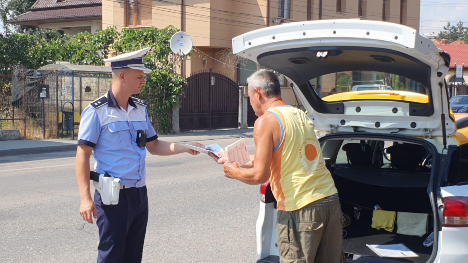 Într-o singură săptămână, polițiștii rutieri au aplicat 454 de sancțiuni în trafic