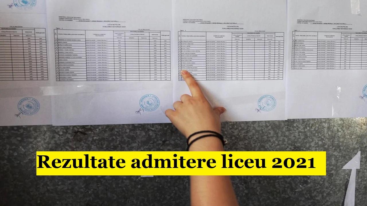 Admitere liceu 2021:  Rezultatele repartizării computerizate, publicate de Ministerul Educației