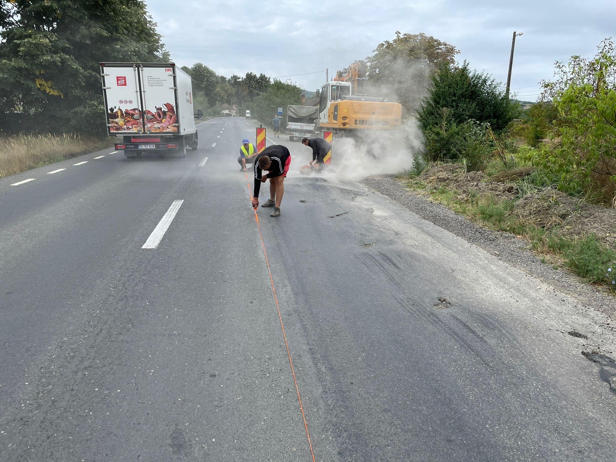 Lucrări de reparații pe DN 7, între Zam și Ilia. Există restricții de viteză