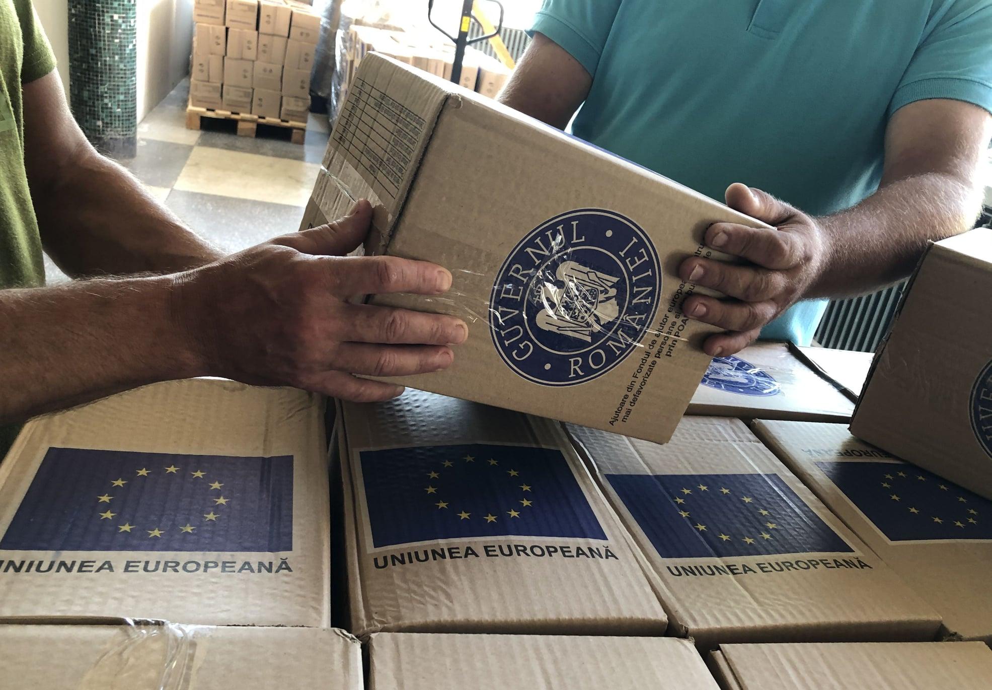 DAS Deva a încheiat distribuirea produselor de igienă. Peste 600 de persoane au beneficiat de ajutorul european