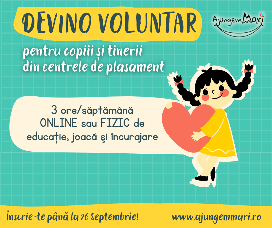 Devino voluntar pentru copiii din centrele de plasament din Hunedoara De ce aleg unii hunedoreni să facă voluntariat