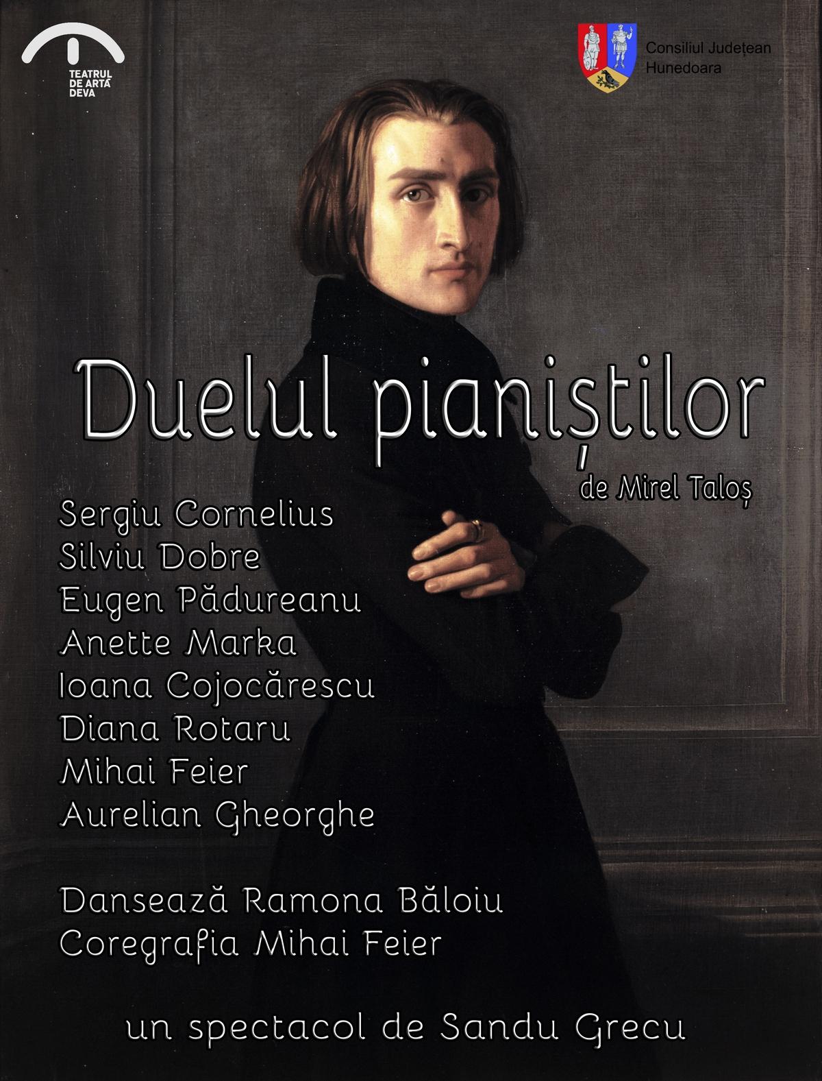 """Se deschide noua stagiune la Teatrul de Artă Deva. """"Duelul pianiștilor"""", prima premieră"""