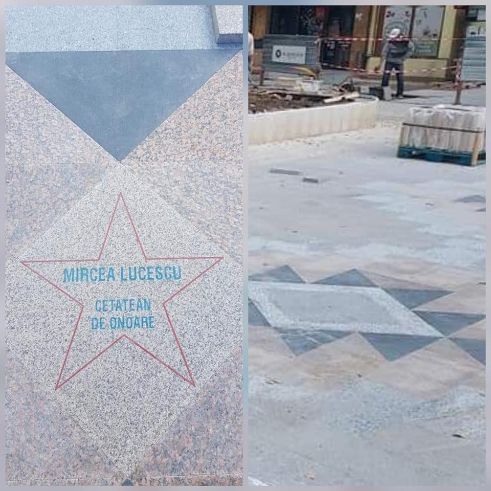 """Mircea Lucescu, prima """"stea"""", pe Pietonala Sanitas din Hunedoara. Urmează și alți Cetățeni de onoare ai municipiului"""