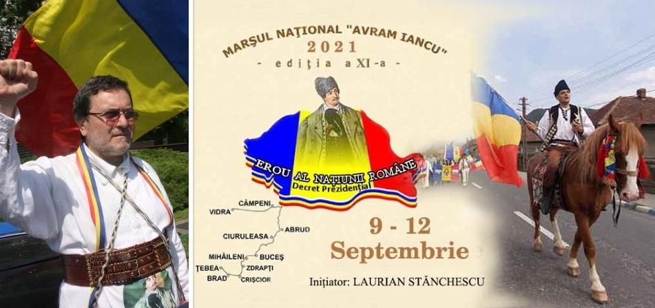 Scriitorul Laurian Stănchescu pornește, pentru al 11-lea an consecutiv, în Marșul Național în cinstea lui Avram Iancu
