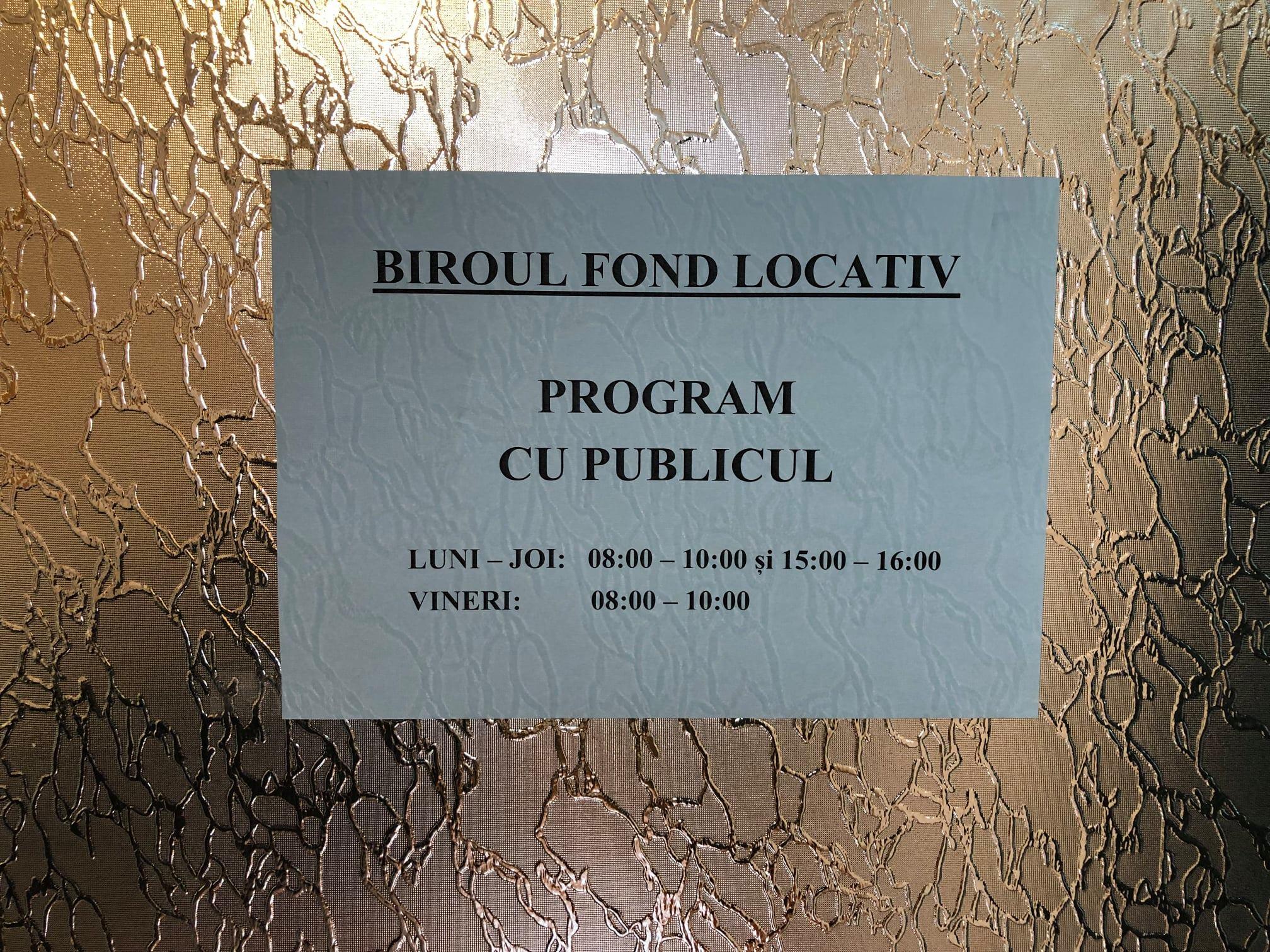 Biroul Fond Locativ, din Deva, își modifică programul de lucru cu publicul