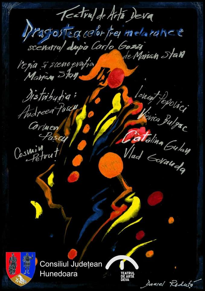 """A opta premieră la Teatrul de Artă Deva: """"Dragostea celor trei melarance"""", în regia lui Marian Stan"""